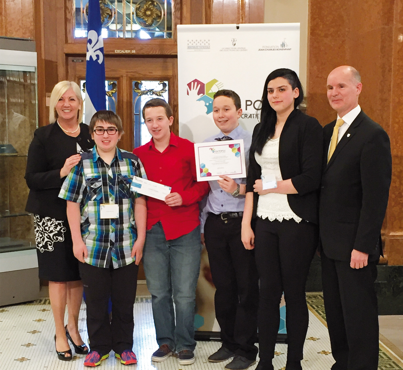 Un projet du conseil d'élèves récompensé à l'Assemblée nationale