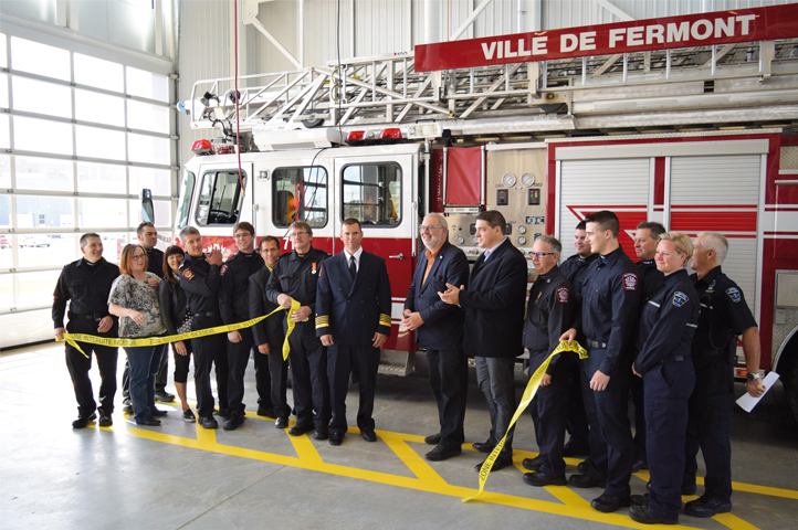 Inauguration officielle de la caserne de pompiers