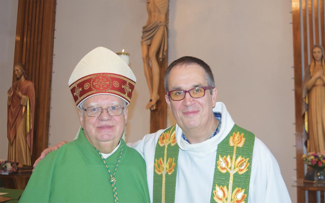 L'évêque du diocèse à Fermont