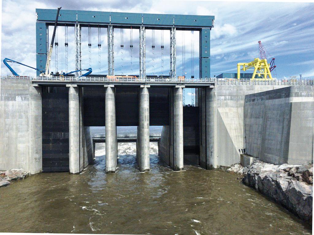 Ouvrage hydroélectrique de Muskrat Falls, la débâcle