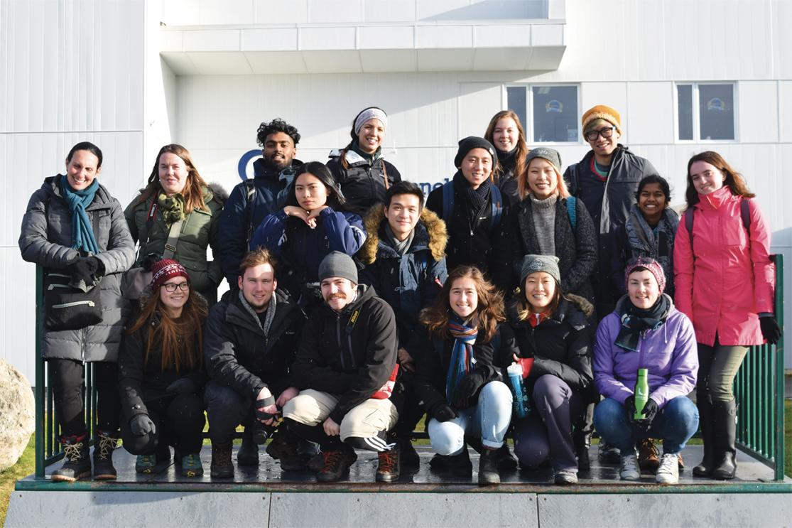 Des étudiants en architecture en mission  dans la région