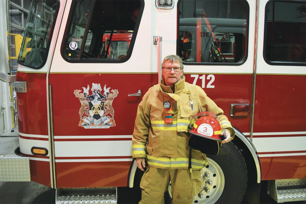Un pompier d'expérience tire sa révérence